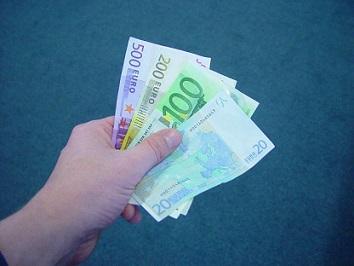 handje met euro's