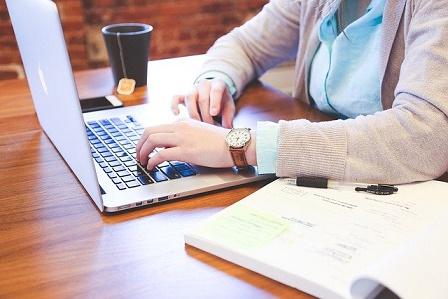 thuiswerken met laptop